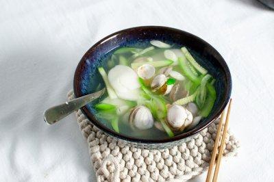 青蒜蛤蜊汤年糕超简易