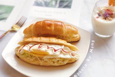 牛角包三明治10分钟快手早餐
