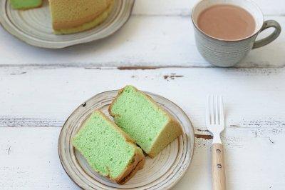 椰香斑斓戚风蛋糕
