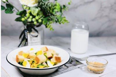 会吃上瘾的减脂沙拉秋葵鸡肉玉米沙拉