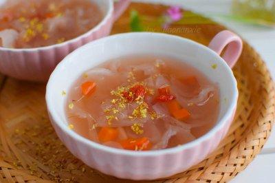 桂花莲藕银耳汤