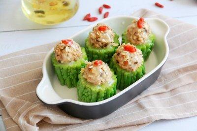 苦瓜酿肉健康家常菜