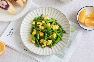 芦笋炒蛋低脂健康家常菜
