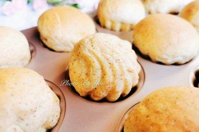酱黑麦蓝莓酱贝壳面包