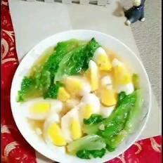 鸡蛋蒜香生菜