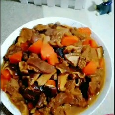 香菇烧牛肉