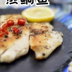 减肥餐~香煎鲷鱼