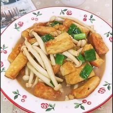 白玉菇焖豆腐