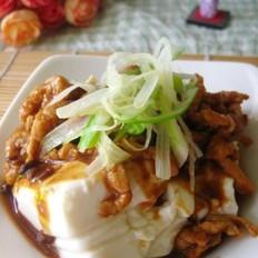 京酱肉丝拌豆腐