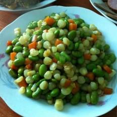 玉米粒炒毛豆