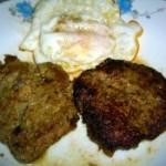 牛肉饼煎蛋