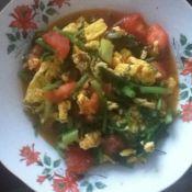 茴香番茄炒鸡蛋