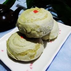 绿茶酥皮五仁月饼
