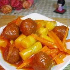 胡萝卜肉丸年糕