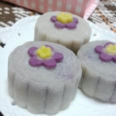 椰香紫薯栗蓉冰皮月饼