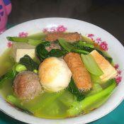 青菜贡丸汤