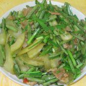 菜瓜豆角炒韭菜