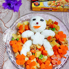 咖喱饭团之小雪人