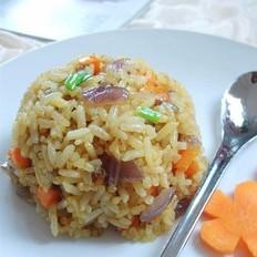 胡萝卜洋葱咖哩炒饭
