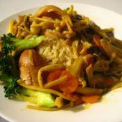 咖喱菌菇鸡丝饭