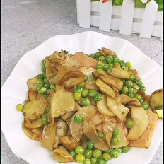 杏鲍菇炒青豆