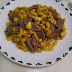 玉米炒牛肉