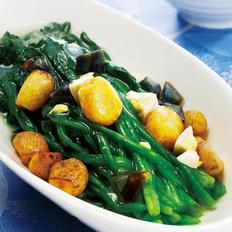 金银蛋浸菠菜