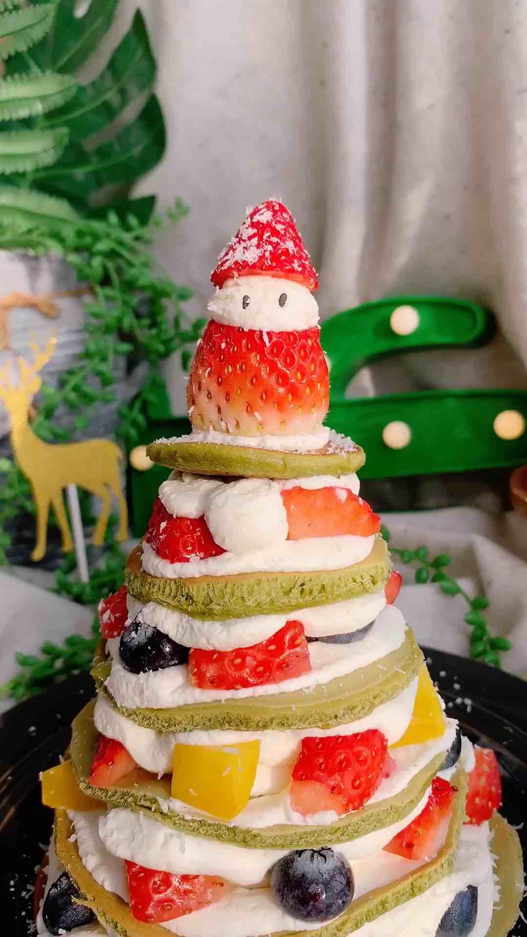 抹茶松饼圣诞树