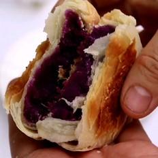 过年必备零食紫薯酥饼