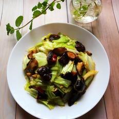 香菇炝卷心菜