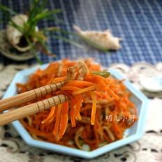 肉丝炒胡萝卜