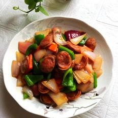 杂蔬炒纯肉肠