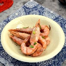 炒野生红虾