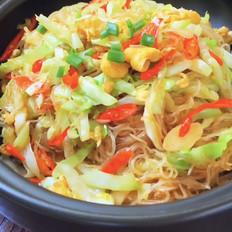 圆白菜炒粉丝