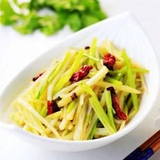 毛芹菜炒土豆
