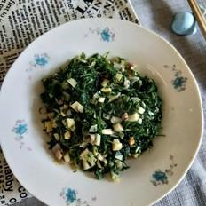 笋丁咸肉炒荠菜