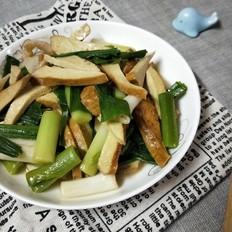 大蒜肉片炒豆腐干