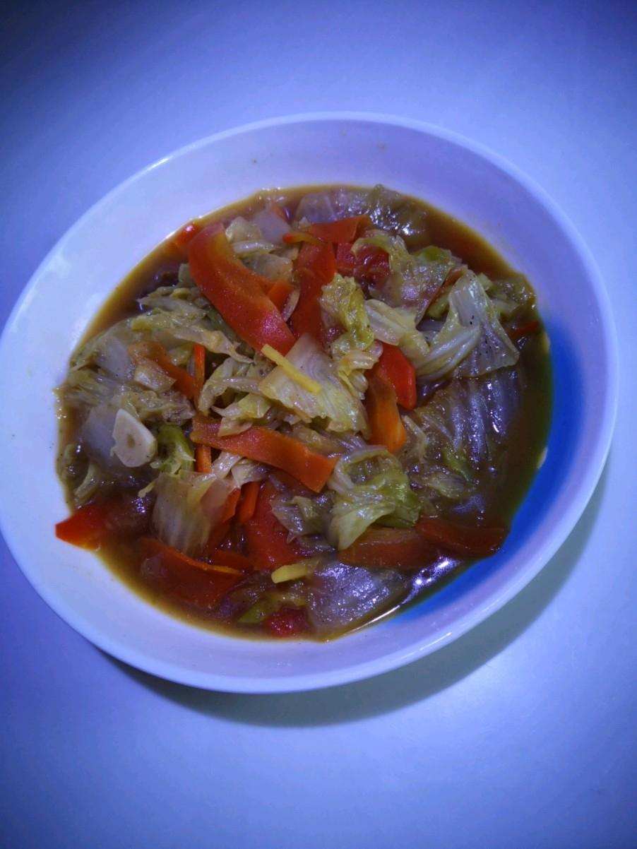 大白菜炒胡萝卜