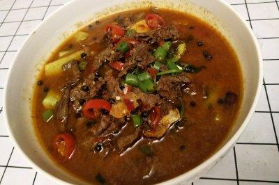 豆腐水煮牛肉
