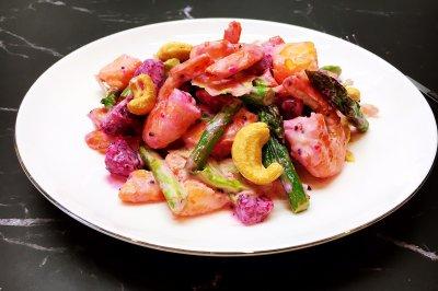 初夏鲜虾蔬果沙拉