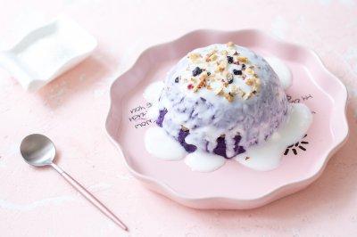 酸奶紫薯泥