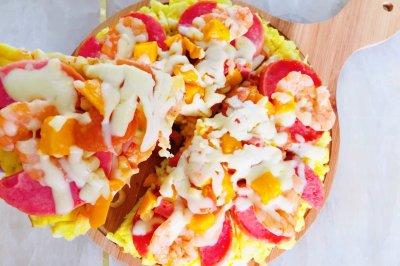 家庭版大虾披萨