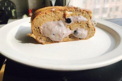 无奶油低脂健康珍珠奶茶爆浆蛋糕卷