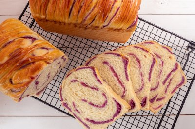 高颜值烘焙紫薯芋泥吐司