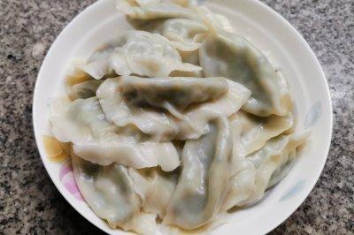 龙利鱼韭菜水饺