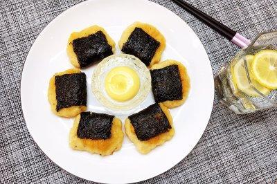 海苔鸡肉饼