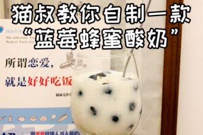 自制蓝莓蜂蜜酸奶
