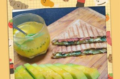 仙女最爱低脂薄荷三明治