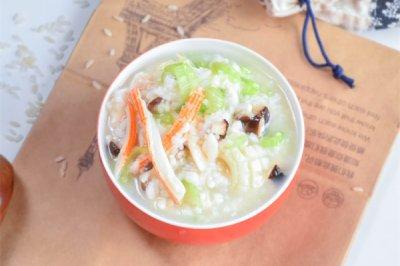 胚芽米海鲜粥