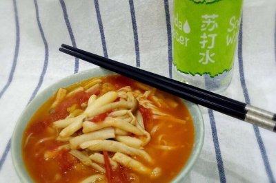 番茄菌菇牛骨汤面